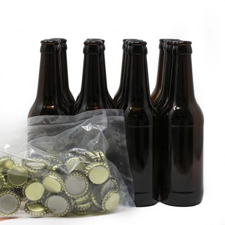 Bouteilles Bière et 100 bouchons