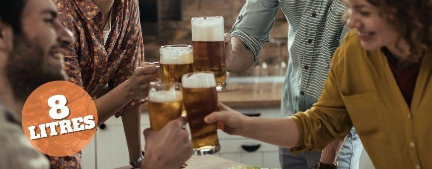 Kits extrait de malt. Brassage bière. 8 litres. Hydromètre et éprouvet